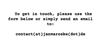 To get in touch, please use the form below or simply send an email to: